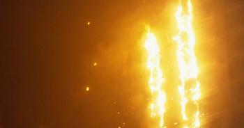 Пожар в центре Москвы продолжается. Фото: AFP/Getty Images