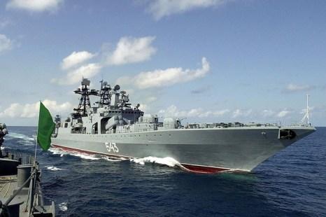 Корабль «Маршал Шапошников». Фото: SEBASTIAN DSOUZA/AFP/Getty Images
