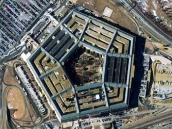 Пентагон. Спутниковый снимок Google Maps