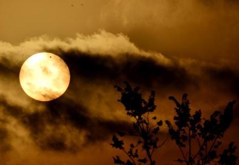 Фотографии  транзита Венеры по диску Солнца с  разных точек Земли. Рим, Италия. Фоторепортаж. Фото: SAID TED ALJIBE, JACK GUEZ, KHATIB/AFP/GettyImages