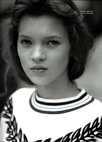 Кэйт Мосс в юности. Фото:  milostyle.se