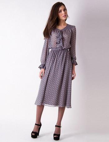 Длинные платья из шифона. Фото: smolya.com