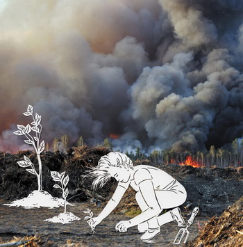 Планета Земля находится под угрозой. Фото с сайта nature.com