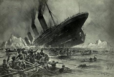 Гравюра Титаника Вилли Стовера под названием Der Untergang der Titanic. Фото: Wikimedia