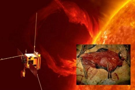 Спутник Solar Orbiter НАСА и Европейского космического агентства (ЕКА). Рисунок в пещере Альтамира в Испании. Фото: Wikimedia Commons