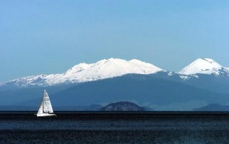 Вулкан Таупо (Новая Зеландия). Микроорганизмы распространяются при помощи вулканов. Фото: Phil Walter/Getty Images