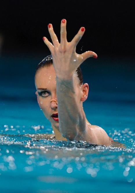 Синхронное плавание. Наталья Ищенко выиграла золото в сольной программе. Фоторепортаж. Фото: JOHN THYS/AFP/GettyImages