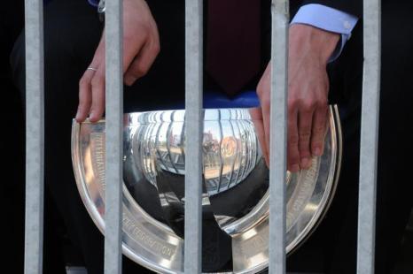 На Манежной площади чествовали хоккеистов России – чемпионов мира. Фоторепортаж. Фото: KIRILL KUDRYAVTSEV/AFP/GettyImages
