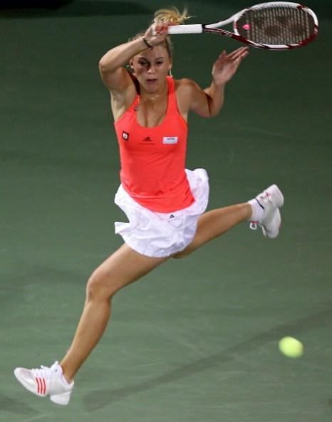 Каролин Возняцки выиграла у Светланы Кузнецовой финальный матч WTA. Фото: Michael Regan/KARIM SAHIB/AFP/Getty Images