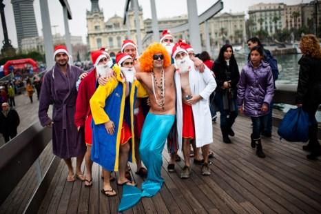 Зимний  заплыв в Барселоне на кубок Надаля. Фоторепортаж. Фото: David Ramos/Getty Images