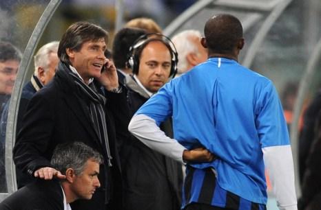 Миланский «Интер» - «Лацио»  Фото: Tiziana FABI, Alberto PIZZOLI, Paolo BRUNO/AFP/Getty Images
