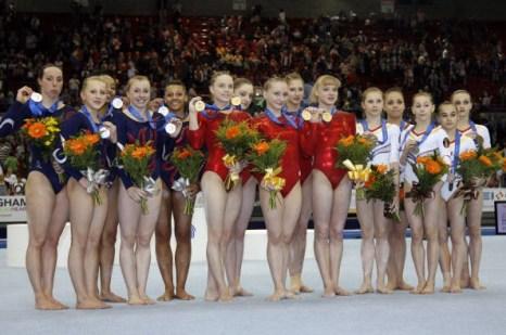 Российские гимнастки выиграли британский чемпионат Европы. Фото: Glyn KIRK/AFP/Getty Images