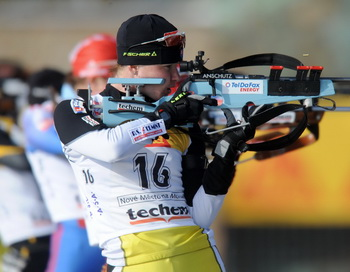Российские юниоры завоевали серебро по биатлону в смешанной эстафете. Фото: Michal CIZEK/AFP/Getty Images