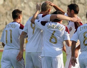 Отборочный матч Россия-Словакия по футболу состоится сегодня. Фото: PASCAL PAVANI/AFP/Getty Images