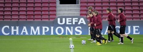 В матче Лиги чемпионов:  ««Рубин» сразится с «Барселоной».  Фото: LLUIS GENE/AFP/Getty Images