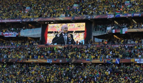 Кубок мира 2010. Cтадион Soccer City в Соуэто, Йоханнесбург. Фото: Gabriel BOUYS/AFP/Getty Images