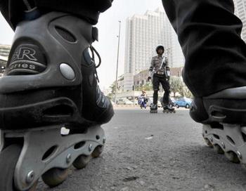 Ролики для начинающих. Фото: Bay ISMOYO/AFP/Getty Images