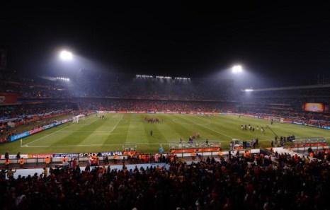 Южная Африка. Цване-Претория. Стадион Лофтус Версфельд:  Чилия – Испания. Фото: Hoang DINH NAM/AFP/Getty Images