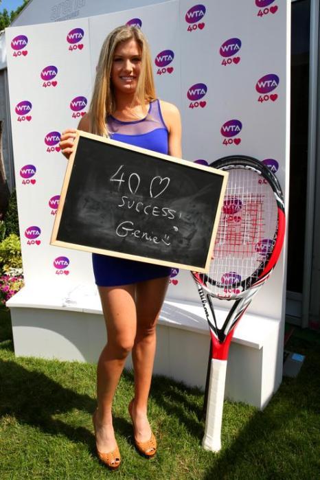 Евгения Бушар на праздновании 40-летия WTA в Лондоне. Фото: Julian Finney/Getty Images