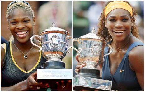 Серена Уильямс второй раз стала чемпионкой турнира «Ролан Гаррос», первую победу она одержала в 2002 году (л). Фото:  FRANCOIS GUILLOT,THOMAS COEX/AFP/Getty Images