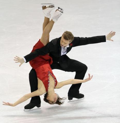 Екатерина Рязанова и Илья Ткаченко на ЧМ по фигурному катанию в канадском Лондоне 16 марта 2013 года. Фото: Ronald Martinez/Getty Images