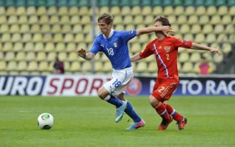 Юношеская сборная России по футболу выиграла Чемпионат Европы. Фото: SAMUEL KUBANI/AFP/Getty Images