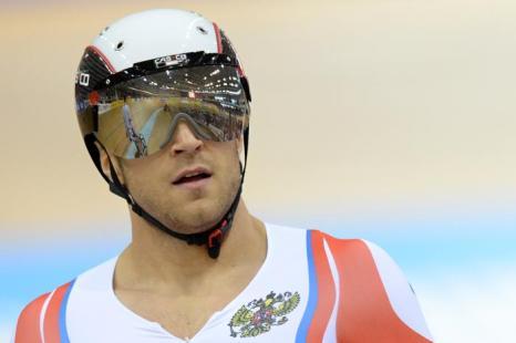 Денис Дмитриев завоевал первую для России медаль велоспорта в спринте. Фото: KIRILL KUDRYAVTSEV/AFP/Getty Images