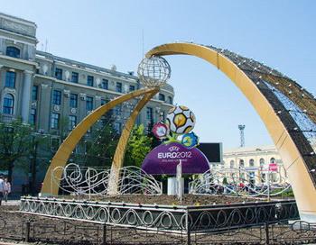 Подготовка к чемпионату Европы по футболу 2012 на Украине. Фото РИА Новости