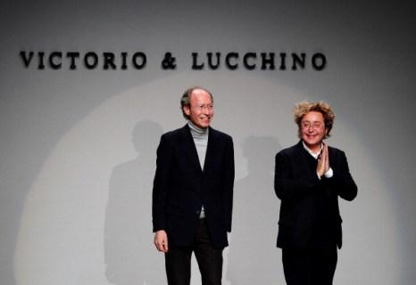 Victorio & Lucchino на  показе  моды Mercedes-Benz в Мадриде. Фоторепортаж. Фото: Jasper Juinen/Getty Images