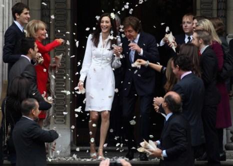 Свадьба Пол Маккартни и Нэнси Шевелл. Фоторепортаж из Лондона. Фото: Danny Martindale/Getty Image