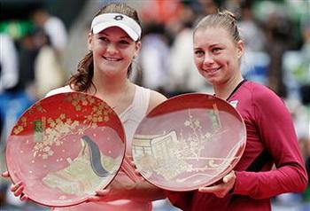 Агнешка Радваньска стала чемпионкой теннисного турнира Toray Pan Pacific Open. Фото: Koji Watanabe/Getty Images