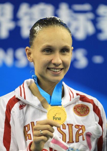 Наталья Ищенко  завоевала золото в соло по синхронному плаванию. Фото:  Ezra Shaw/FRANCOIS XAVIER MARIT/AFP/Getty Images
