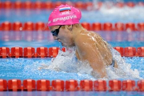 Юлия Ефимова вышла в финал в заплыве на 50 м брассом на ЧМ-2011 ФИНА в Шанхае. Фото: PHILIPPE LOPEZ/AFP/Getty Images