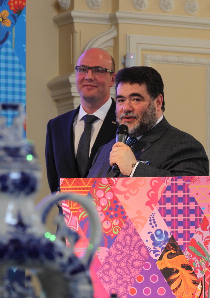 Образ Сочи-2014 «Лоскутное одеяло» был представлен в московском ГУМе. Фото:  Alexey SAZONOV/AFP/Getty Images