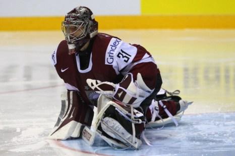 Фоторепортаж.  Сборная Латвии проиграла хоккейный матч команде Финляндии со счетом 3:2. Фото:  Martin Rose/Bongarts/Getty Images