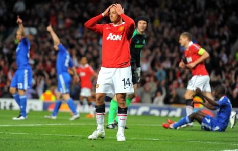 «Манчестер Юнайтед»  победил  «Челси» в 1/4 финала Лиги чемпионов. Фоторепортаж. Фото:ANDREW YATES, ALEX LIVESEY/AFP/Getty Images