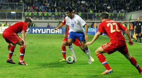 Российская футбольная сборная отыграла последний матч отборочного тура 15 октября 2013 года, проведя вничью встречу с Азербайджаном. TOFIK BABAYEV/AFP/Getty Images