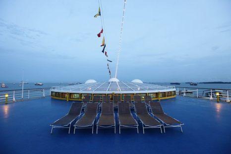 Круизное судно люкс Costa Atlantica прибыло в Сингапур 3 мая 2013 г. Фото: Suhaimi Abdullah/Getty Images