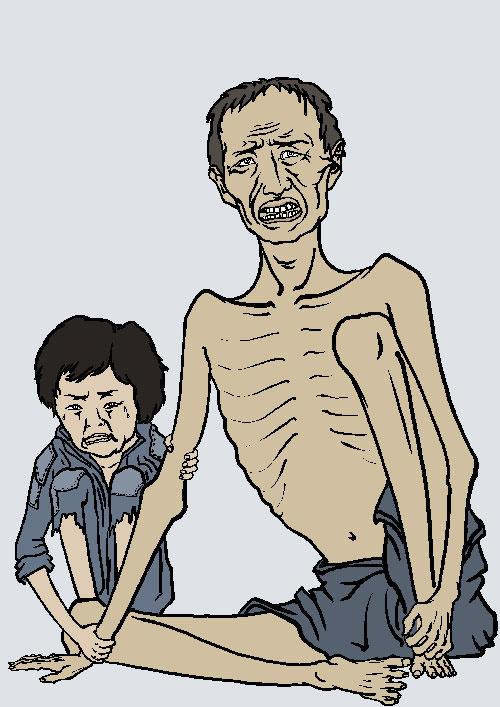 Великий голод (1959–1962). Иллюстрация: Великая Эпоха (The Epoch Times)