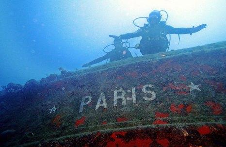 Военное французское судно, затопленное во время второй мировой войны недалеко от причала в Кемере, Турция. Фото: TARIK TINAZAY/AFP/Getty Images