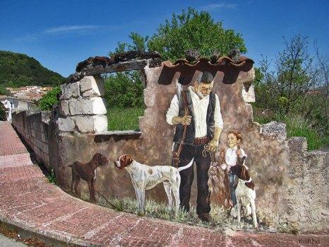 Картины провинциальной жизни на домах в Тиннуре, Италия. Фото: Nanna and Ci on/off/Flickr
