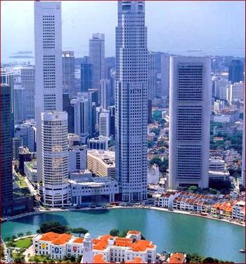 Небоскребы Сингапура. Фото с nalogi.net
