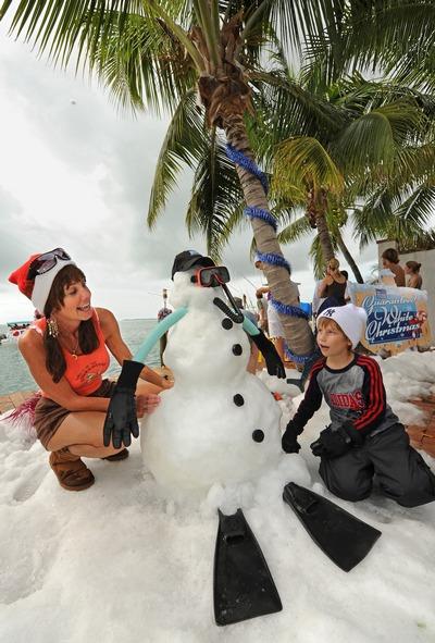 Мир празднует Новый год. Новый год Florida Keys News Bureau, Cyndi Livingston.  Фото: ONeal/Florida Keys News Bureau via Getty Images