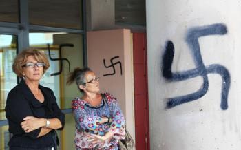 Всплеск антисемитских выходок был зафиксирован в Британии в январе 2009 года. Фото:  BORIS HORVAT/AFP/Getty Images