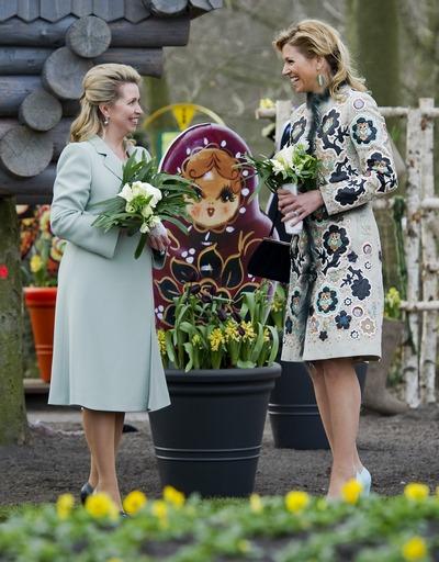 Королевство Нидерландов и парк цветов посетила Светлана Медведева. Фоторепортаж. Фото:  Getty Images/Stringer