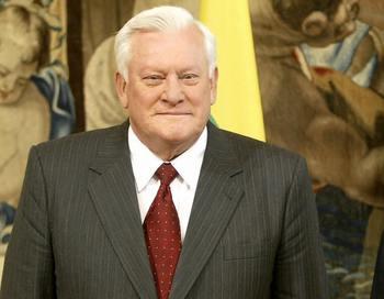 Альгирдас Бразаускас -  первый президент Литвы. Фото: ANDREAS SOLARO/AFP/Getty Images