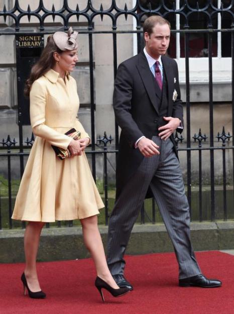 Екатерина, герцогиня Кембриджская  присутствовала на службе Ордена Чертополоха в Эдинбурге. Фоторепортаж. Фото: Paul Edwards - WPA Pool/Getty Images