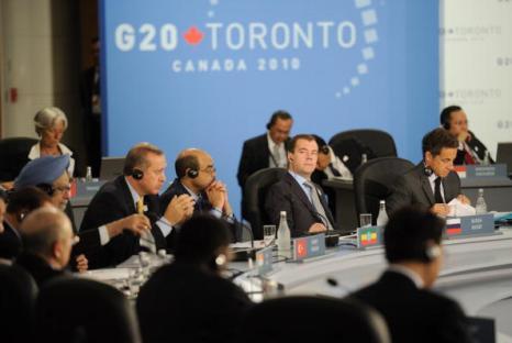 Саммит G20 в Торонто завершился принятием итоговой декларации. Фоторепортаж. Фото: SAUL LOEB/AFP/Getty Images