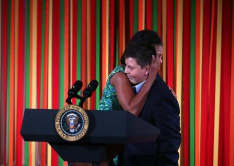 Мишель Обама в Белом доме на  обеде для детей, победивших в конкурсе «Здоровый образ  жизни». Фоторепортаж. Фото: Alex Wong/Getty Images