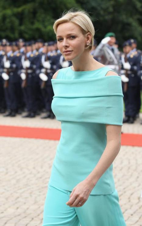 Принцесса Монако Шарлин  и принц Альберт II  прибыли в Берлин.  Фоторепортаж. Фото: Andreas Rentz/Getty Images